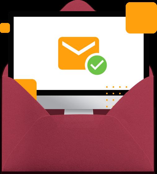 envelope com confirmação de email